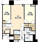 パークシティ中央湊ザ・タワー 32階 2LDK 320,100円〜339,900円の写真1-thumbnail