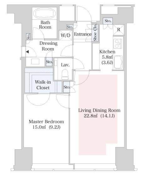 セントラルパークタワー・ラ・トゥール新宿 34階 1LDK 379,000円の写真1-slider