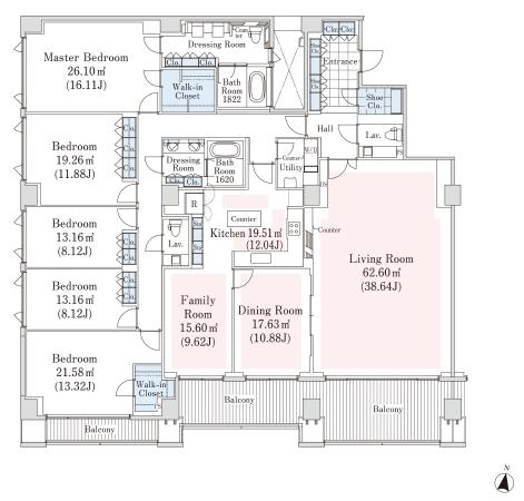 ラ・トゥール代々木上原 E-3階 5LDK 1,750,000円の写真1-slider