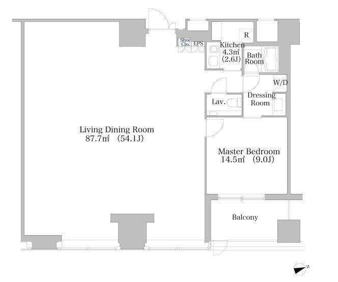 セントラルパークタワー・ラ・トゥール新宿 4階 1LDK 850,000円の写真1-slider
