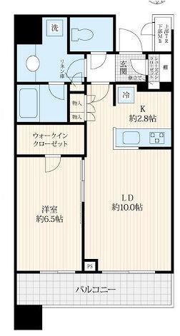 ブリリアタワーズ目黒 N-38階 1LDK 320,000円の写真1-slider