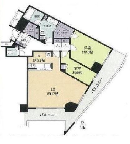 キャピタルマークタワー 35階 2LDK 355,990円〜378,010円の写真1-slider