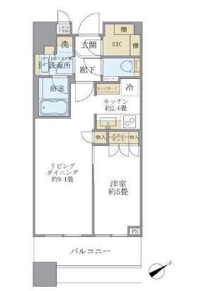 ブリリアタワーズ目黒 N-3階 1LDK 221,160円〜234,840円の写真1-slider