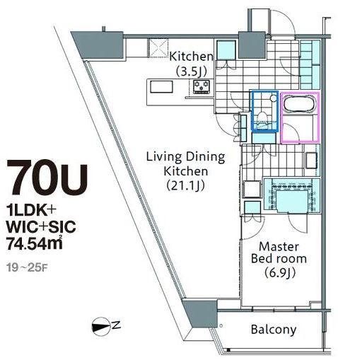コンフォリア新宿イーストサイドタワー 19階 1LDK 448,000円の写真1-slider