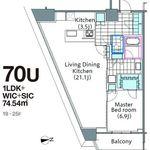 コンフォリア新宿イーストサイドタワー 19階 1LDK 448,000円の写真1-thumbnail