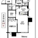 パークコート浜離宮ザタワー 9階 1LDK 310,000円の写真1-thumbnail