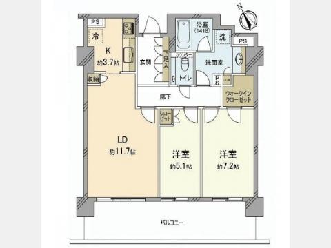 パークコート神宮前 F-5階 2LDK 354,050円〜375,950円の写真1-slider