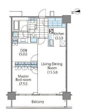コンフォリア新宿イーストサイドタワー 8階 1LDK 370,000円の写真1-slider