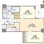 パークコート赤坂ザ・タワー 5階 2LDK 407,400円〜432,600円の写真1-thumbnail