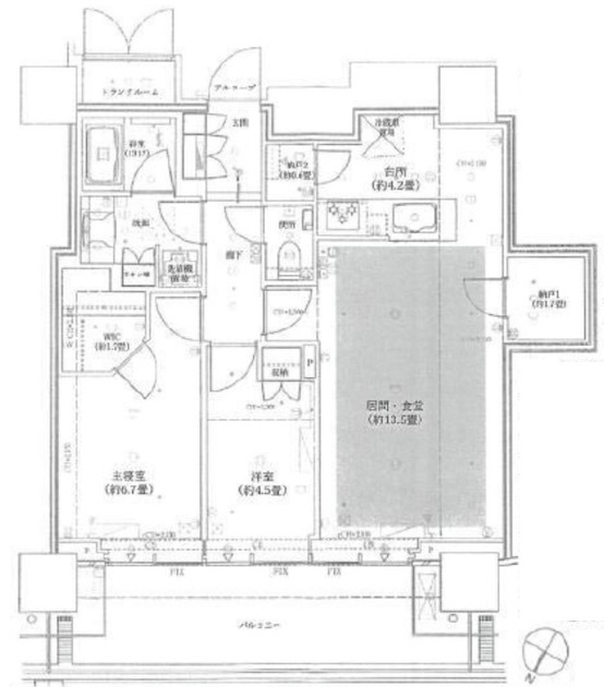 ザコート神宮外苑 5階 2LDK 530,000円の写真1-slider