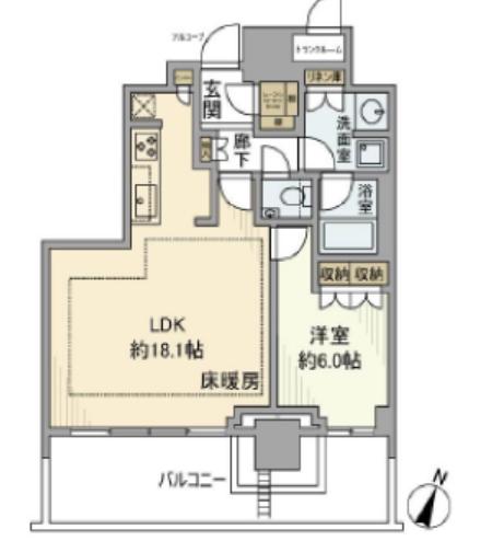 ザコート神宮外苑 4階 1LDK 300,700円〜319,300円の写真1-slider