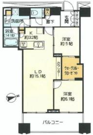 富久クロスコンフォートタワー 43階 2LDK 420,000円の写真1-slider