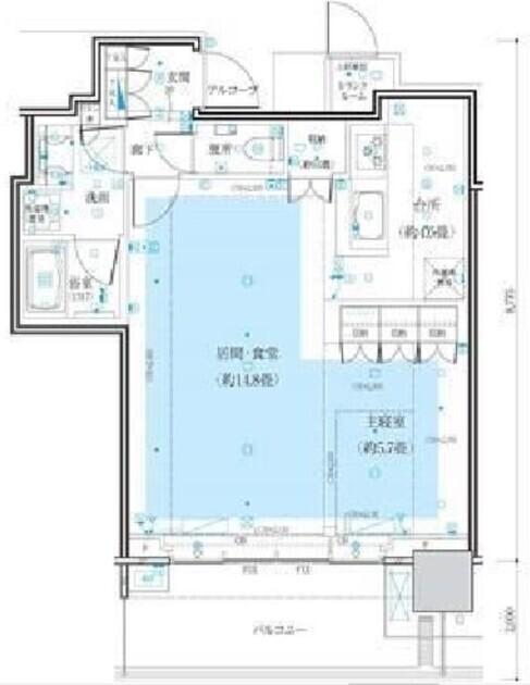 ザコート神宮外苑 11階 1LDK 370,000円の写真1-slider