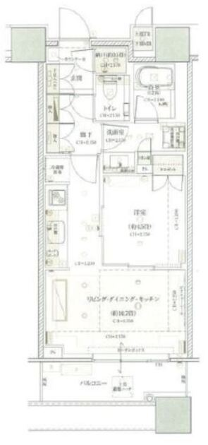 ブリリアタワーズ目黒 N-16階 1LDK 255,000円の写真1-slider