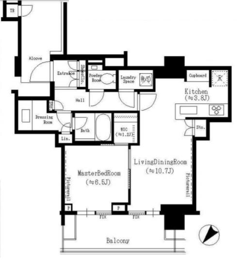 ザコート神宮外苑 5階 1LDK 400,000円の写真1-slider