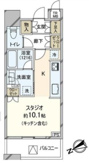 ブリリアタワーズ目黒 S-12階 1R 185,000円の写真1-slider