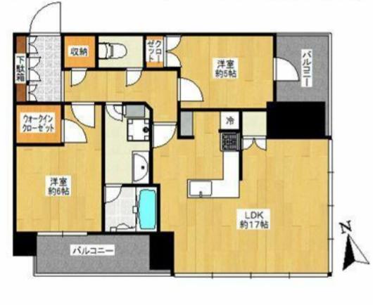 パークシティ中央湊ザ・タワー 18階 2LDK 339,500円〜360,500円の写真1-slider