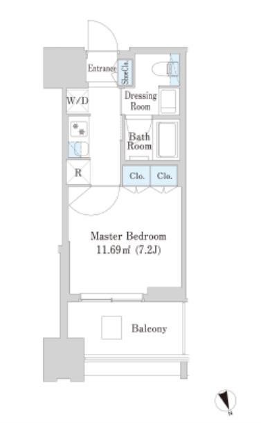 大崎ガーデンレジデンス 4階 1K 114,460円〜121,540円の写真1-slider