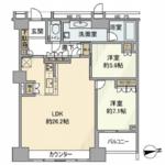 ザ・センター東京 25階 2LDK 340,000円の写真1-thumbnail