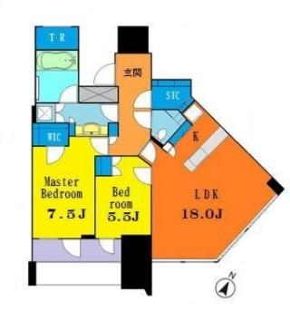 パークコート渋谷ザ・タワー 16階 2LDK 630,000円の写真1-slider