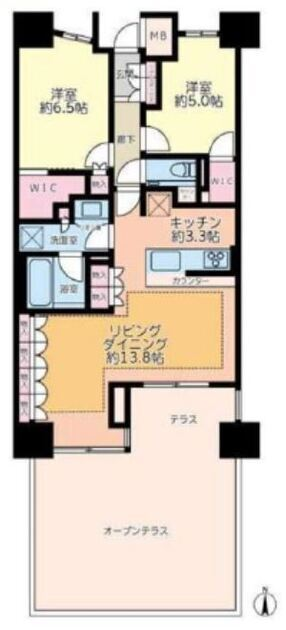 ザ・パークハウス山吹神楽坂 1階 2LDK 310,000円の写真1-slider