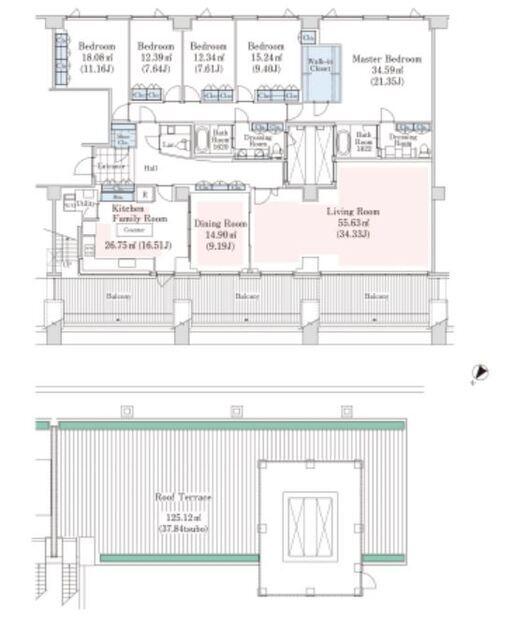 ラ・トゥール代々木上原 B-4階 5LDK 1,712,050円〜1,817,950円の写真1-slider