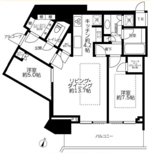 ザコート神宮外苑 22階 2LDK 582,000円〜618,000円の写真1-slider