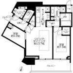 ザコート神宮外苑 22階 2LDK 582,000円〜618,000円の写真1-thumbnail