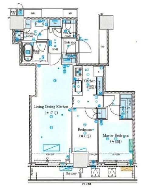 ミッドタワーグランド 28階 2LDK 349,000円の写真1-slider