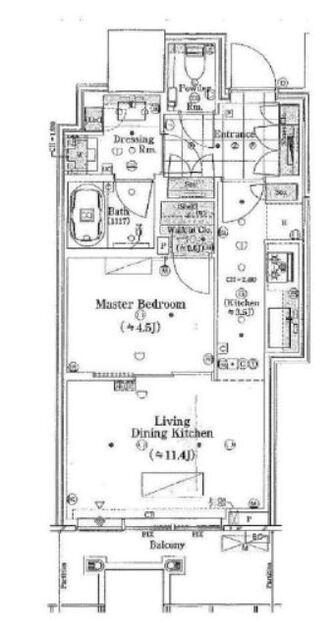 パークコート渋谷ザ・タワー 26階 1LDK 307,000円の写真1-slider