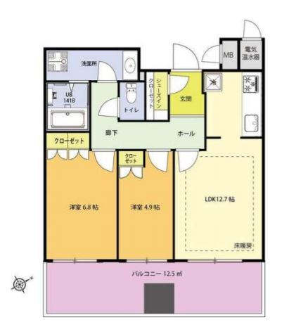 セントラルパークタワー・ラ・トゥール新宿 10階 2LDK 425,000円の写真1-slider