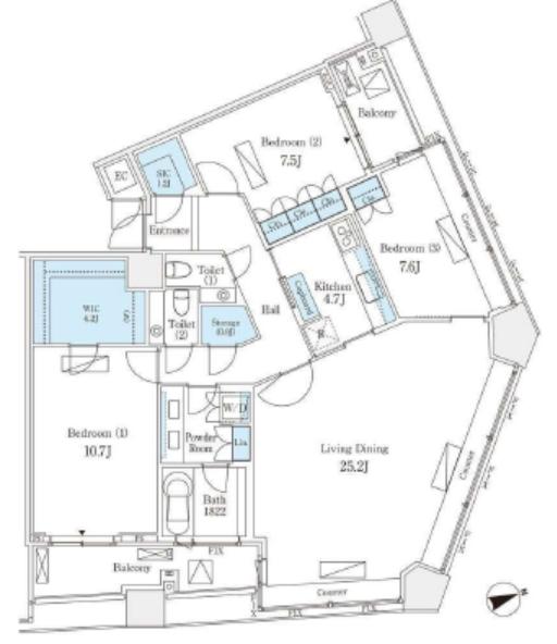 パークコート赤坂ザ・タワー 40階 3LDK 920,000円の写真1-slider