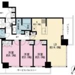 ブリリア・ザ・タワー東京八重洲アベニュー 3階 3LDK 358,000円の写真1-thumbnail