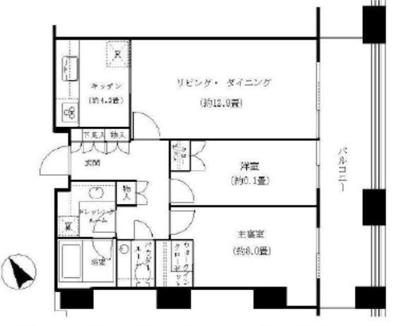 虎ノ門タワーズレジデンス 10階 2LDK 400,000円の写真2-slider