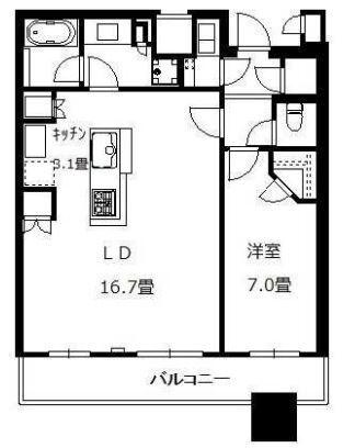 ブリリアタワーズ目黒 S-27階 1LDK 400,000円の写真1-slider