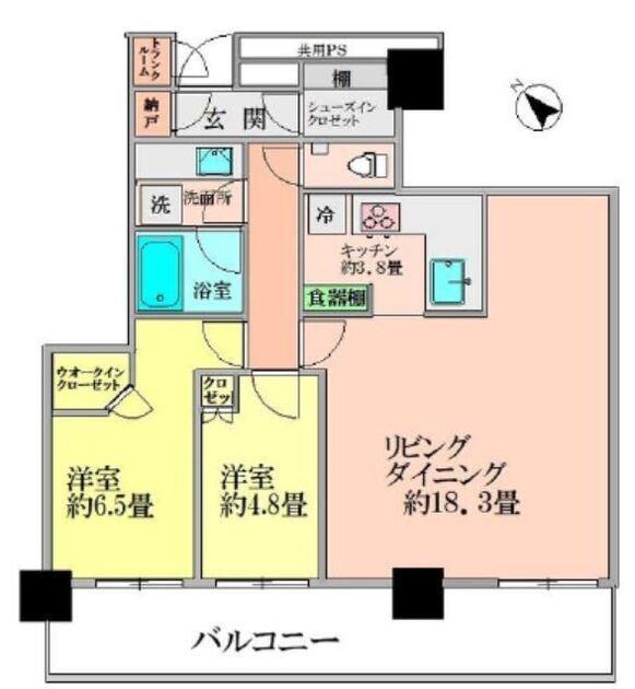 ブリリア・ザ・タワー東京八重洲アベニュー 20階 2LDK 395,000円の写真1-slider