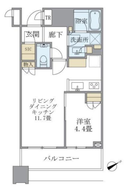 ブリリアタワーズ目黒 S-9階 1LDK 259,000円の写真1-slider