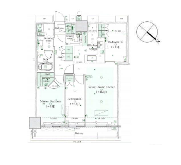 ミッドタワーグランド 29階 3LDK 420,000円の写真1-slider