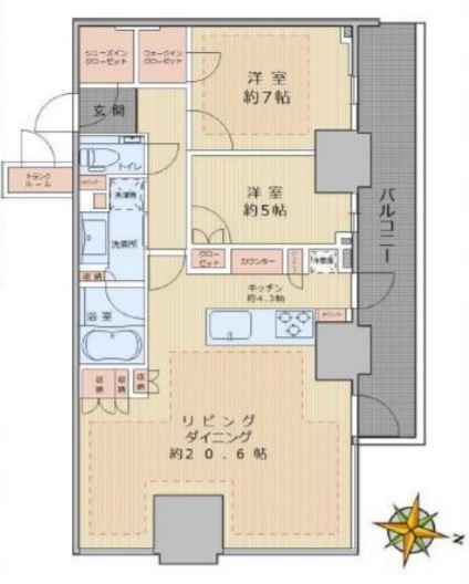 パークコート文京小石川ザ・タワー 20階 2LDK 500,000円の写真1-slider