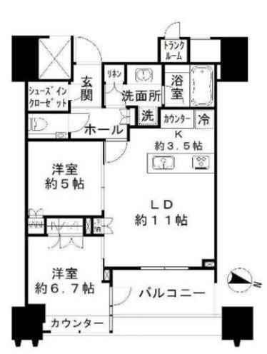 パークコート文京小石川ザ・タワー 31階 2LDK 398,000円の写真1-slider