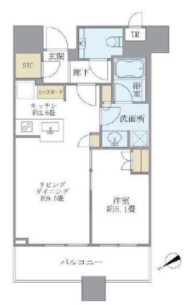 ブリリアタワーズ目黒 サウスレジデンス 26階 1LDK 250,000円の写真1-slider