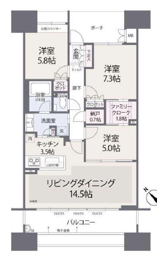 ザ晴海レジデンス12階